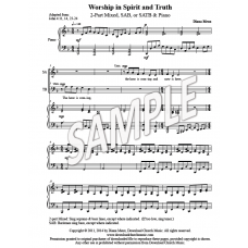 Worship in Spirit and Truth (2-part Mixed, SAB, or SATB & Piano)