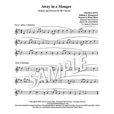 Away in a Manger - Clarinet descant