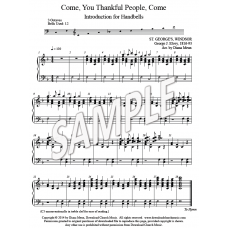 Come, You Thankful, People (HB intro)