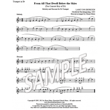 From All That Dwell Below the Skies - Trumpet Descant (Key: Eb)