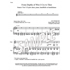 From Depths of Woe I Cry to Thee - St 5 (U/2-part choir, piano, HB)