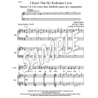 I Know That My Redeemer Lives - St. 5-6 (2-part choir, handbells, piano; opt. cong)