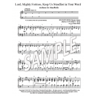 Lord, Mighty Fortress, Keep Us Steadfast (HB, 2 octaves)