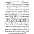 Lord, Thee I Love With All My Heart (2-part & Piano)