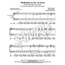Meditation on Der Am Kreuz (Keyboard & Congas)