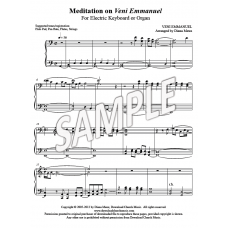 Meditation on Veni Emmanuel (organ or elec keyboard)