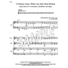 O Dearest Jesus, What Law Hast Thou Broken - Hymn Intro (C instrument, handbells, organ)