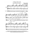 O Sing to the Lord - Piano descant