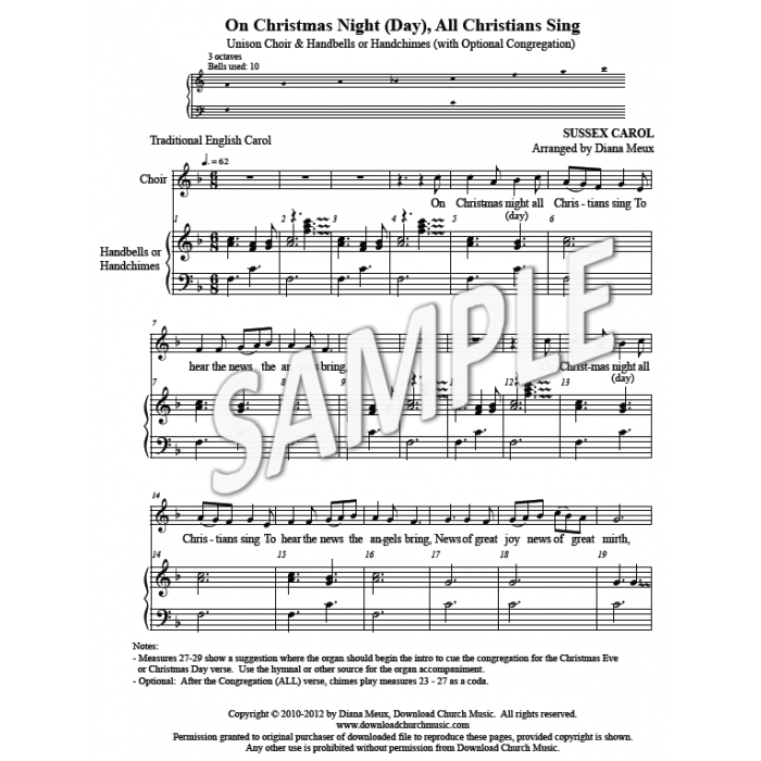 On christmas night all christians sing hb amp choir