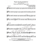 Prepare the Royal Highway - Trumpet descant