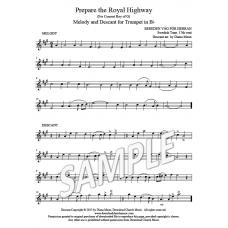Prepare the Royal Highway - Trumpet descant