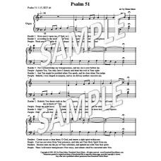 Psalm 51 - Organ embellishment