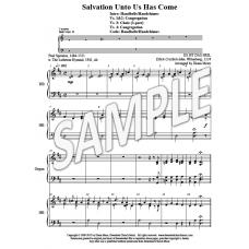 Salvation Unto Us Has Come - HB & 2-part Choir (3 oct, 10 bells)