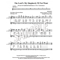 The Lord's My Shepherd (HB-3 oct or 2 instr descant)