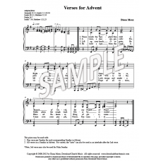 Verses for Advent (Choir &/or Congregation)